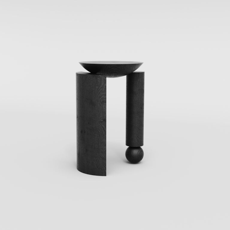 Minimalist Teta Sculptural Side Table or Stool in Tropical Hardwood by Pedro Paulo Venzon For Sale