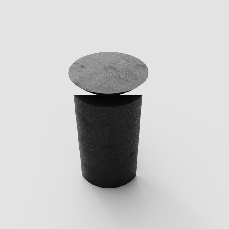 Brazilian Teta Sculptural Side Table or Stool in Tropical Hardwood by Pedro Paulo Venzon For Sale