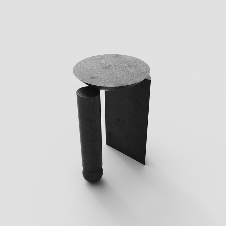 Hand-Crafted Teta Sculptural Side Table or Stool in Tropical Hardwood by Pedro Paulo Venzon For Sale