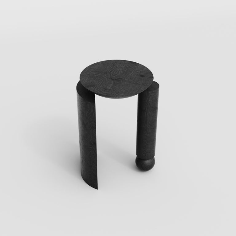 Teta Sculptural Side Table or Stool in Tropical Hardwood by Pedro Paulo Venzon In New Condition For Sale In Florianopolis, Santa Catarina