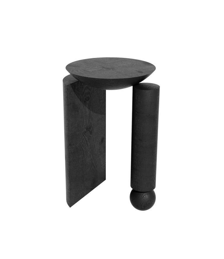 Teta Sculptural Side Table or Stool in Tropical Hardwood by Pedro Paulo Venzon For Sale 2