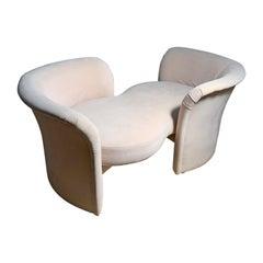 Tete-a-Tete Love Seat Sofa by Milo Baughman / manner of Vladimir Kagan