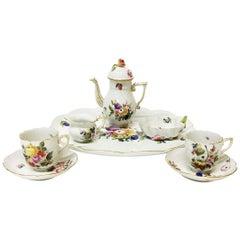 "Tête-à-tête Tea Service ""Market Garden"" Herend Porcelain, Hungary"