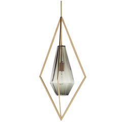 Tetra Pendant Lamp in Brass and Glass