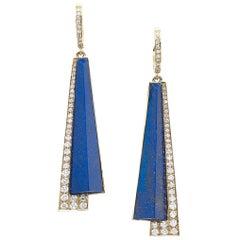 Tetti Di Firenze Lapis Lazuli and Diamonds Earrings