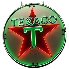 Texaco Motor Oil Animated Neon Sign, 1946