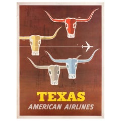 Texas, American Airlines 1960s U.S. Poster
