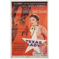 """Texas Lady"" 1955 U.S. One Sheet Film Poster"