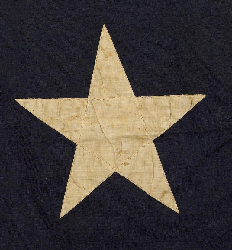 Texas Vintage State Flag by Annin Flag Company, circa 1930s In Good Condition For Sale In Colorado Springs, CO