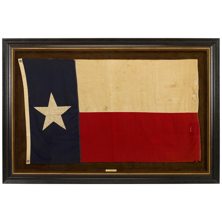 Texas Vintage State Flag by Annin Flag Company, circa 1930s For Sale