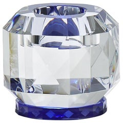 Texas T-Light Holder Clear Cobalt