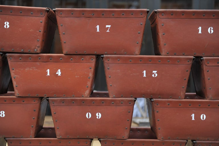 Textile Factory Industrial Stack Able Boxes Bu Suroy 'FRANCE', circa 1950 For Sale 1