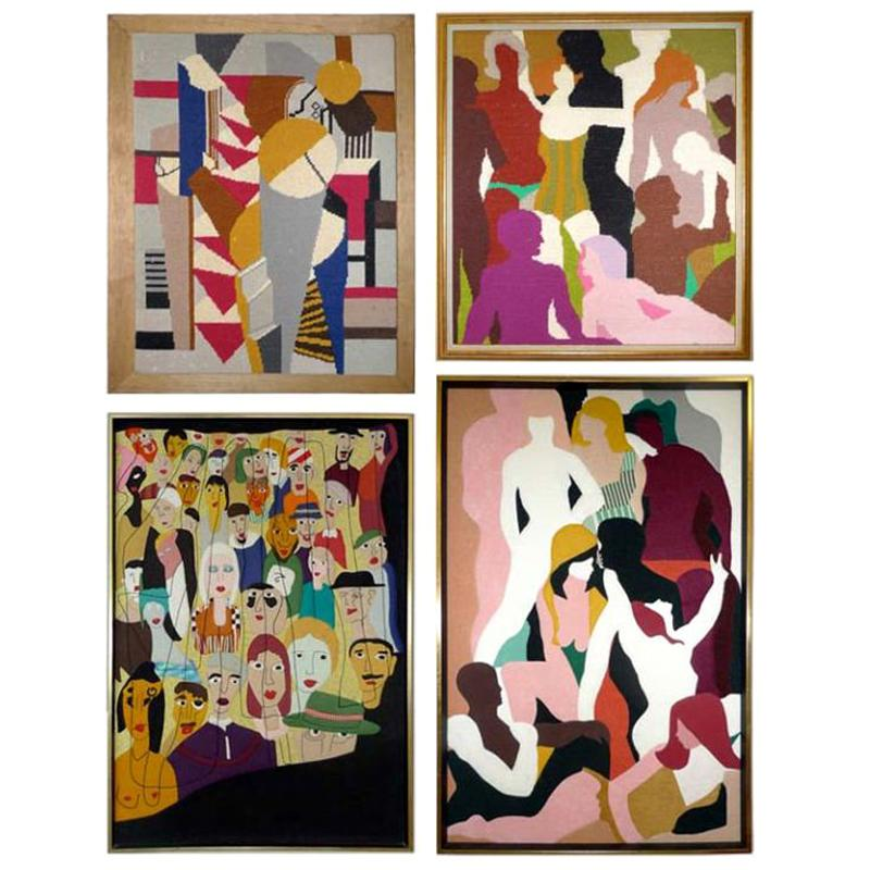 Textile & Needlework Collages of Rose K. Lautman & Miriam Shorr