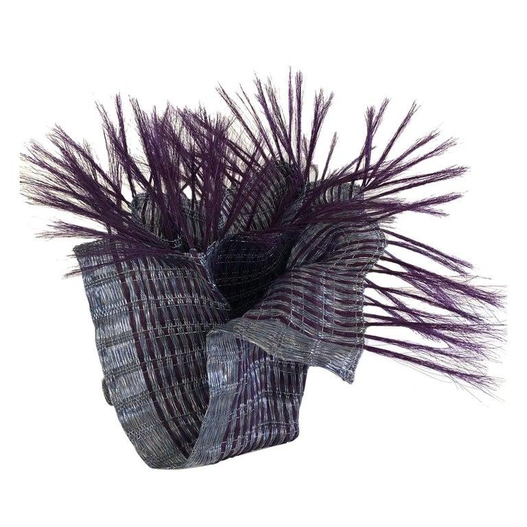 Textile Sculpture by Annemette Beck Lacquered Copper Danish Contemporary For Sale