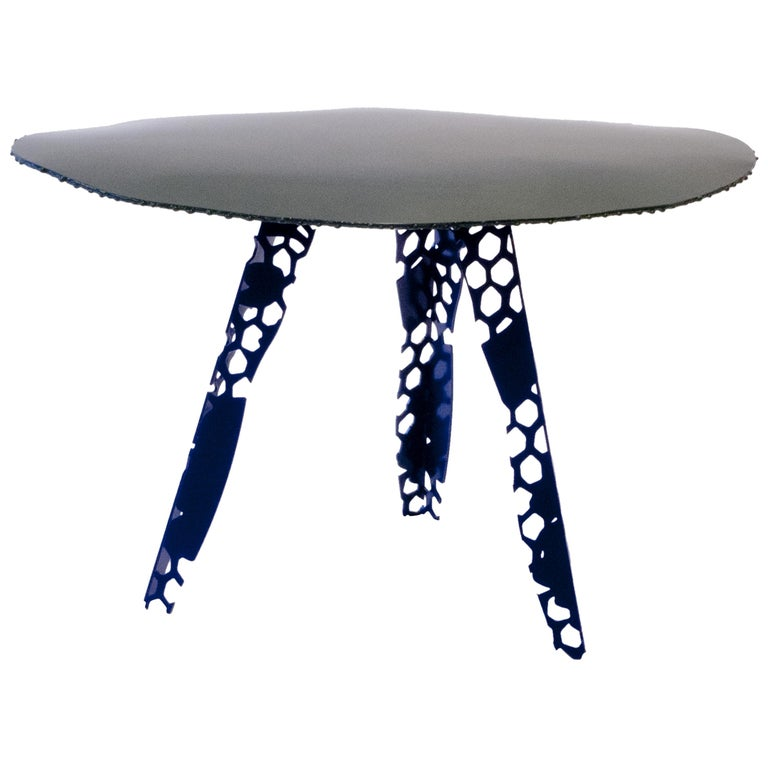 Textile Sketch side Table For Sale