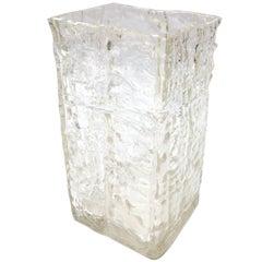 Textured 1960s Girandi Glass Vase