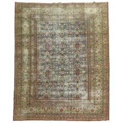 Textured Antique Persian Room Size Rug