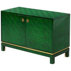 Textured Cabinet with Lacquered Surface