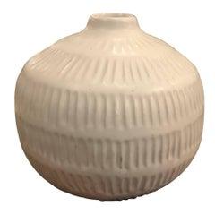 Textured Cream Vase, Thailand, Contemporary