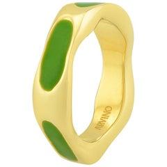 Textured Enamel Ring (Light Green)