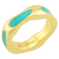 Textured Enamel Ring (Orange)