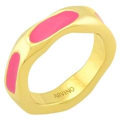 Textured Enamel Ring (Pink)
