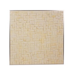 Textured Geometric Painting in Frame