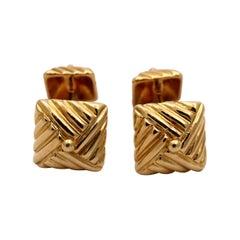 Textured Gold Cufflinks by Emis Beros