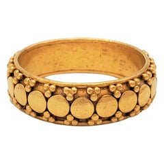 Textured High Karat Gold Band