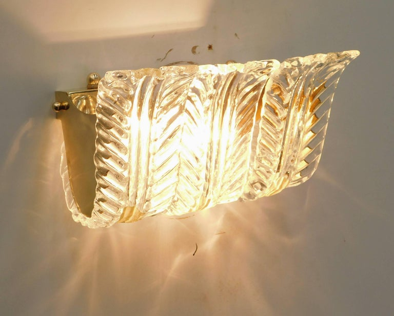 Fourteen Textured Leaves Sconces by Fabio Ltd In Excellent Condition For Sale In Palm Springs, CA
