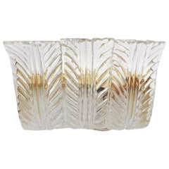 Fourteen Textured Leaves Sconces by Fabio Ltd