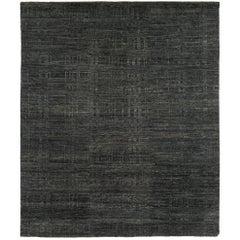"Textured Modern Tibetan ""Scratchout Bold"" Rug by Carini"