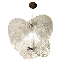 Textured Murano Chandelier by Mazzega, Italy, 1960s