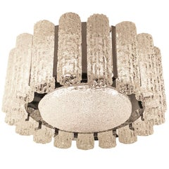 Textured Murano Glass Chandelier, Two Available