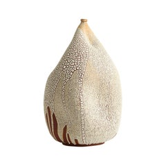 Textured White Handmade Ceramic Vase / Interior Sculpture / Vessel