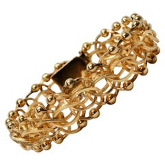 Textured Yellow Gold Multiple Link Chain Bracelet