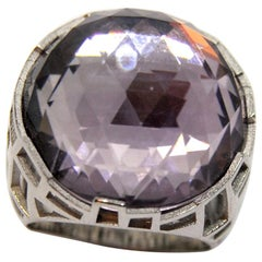 TFS by Roberto Coin 5.10 Cocktail Amethyst Silver Ring