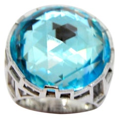 TFS by Roberto Coin 5.10 Cocktail Topaz Silver Ring