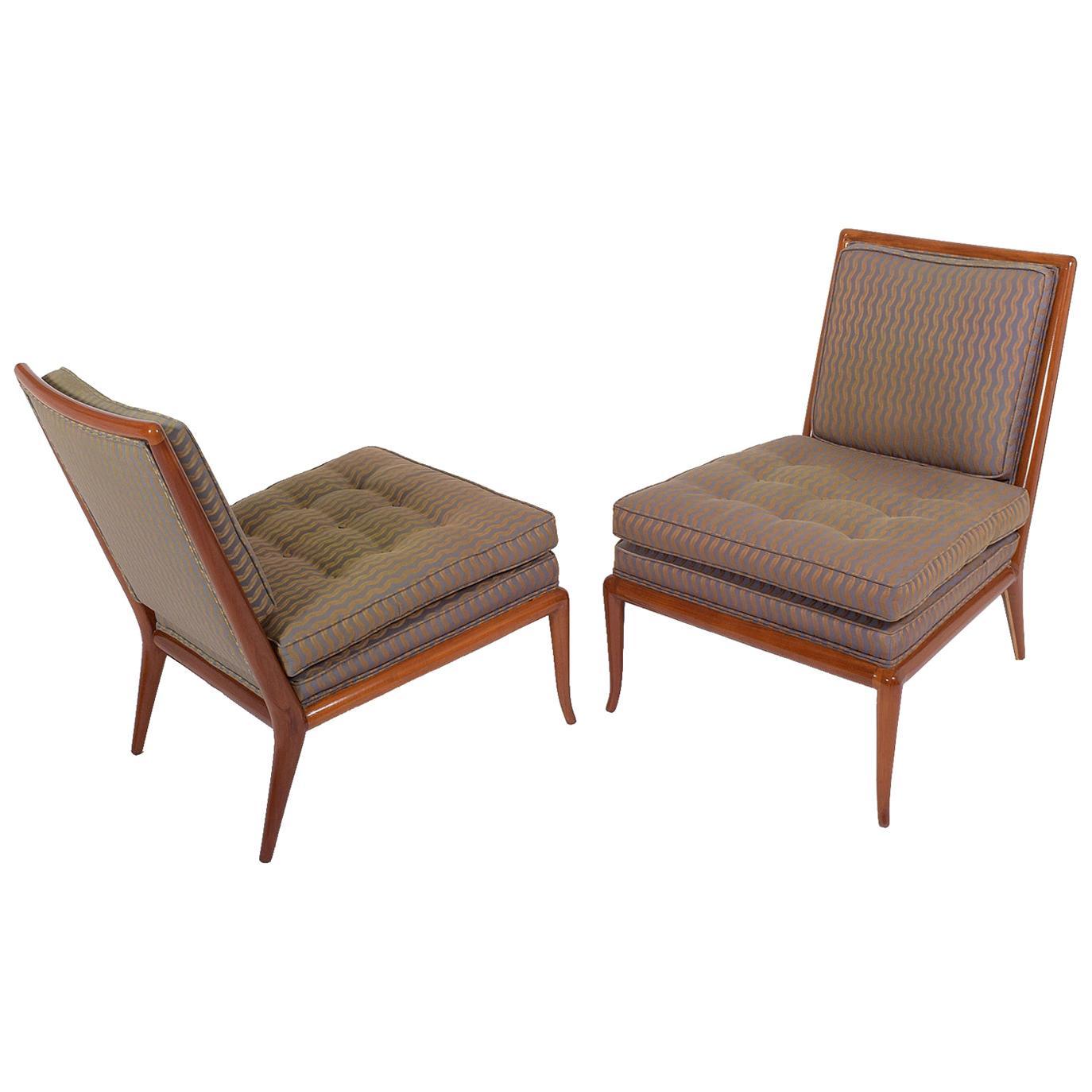 T.H Rabjohn, Gibbings Slipper Chairs for Widdicomb Furniture Co