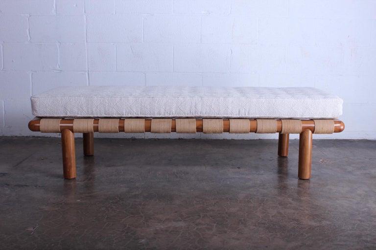 T.H. Robsjohn-Gibbings Bench for Widdicomb In Good Condition For Sale In Dallas, TX