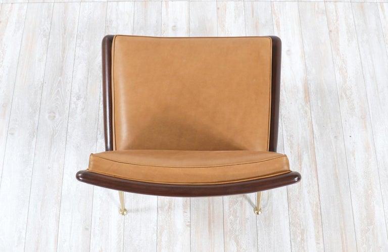 T.H. Robsjohn-Gibbings Brass Accent Lounge Chair for Widdicomb For Sale 5