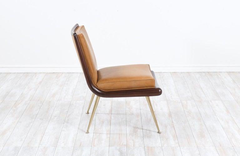 Mid-Century Modern T.H. Robsjohn-Gibbings Brass Accent Lounge Chair for Widdicomb For Sale