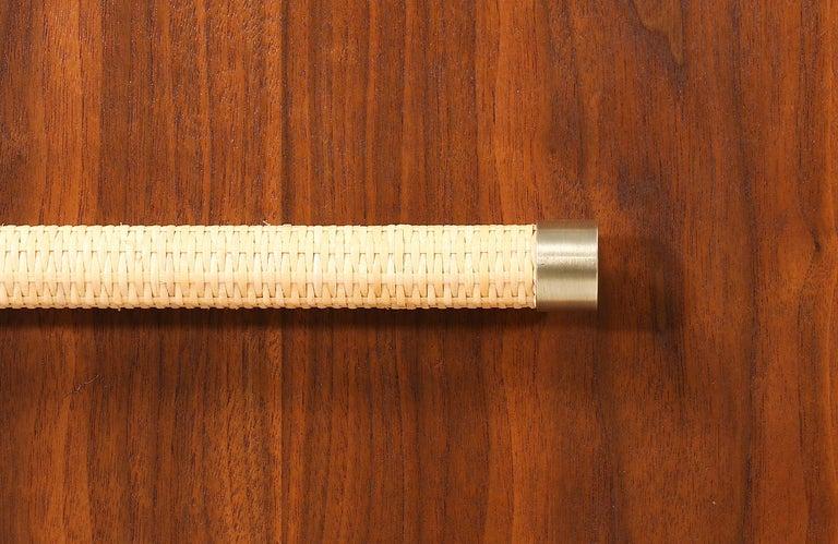 T.H. Robsjohn-Gibbings Brass and Wicker Dresser for Widdicomb For Sale 6