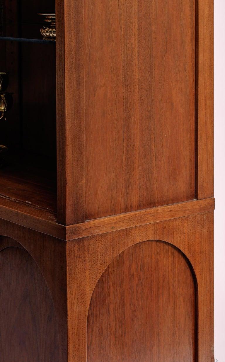 Walnut T.H. Robsjohn-Gibbings Coliseum Display Cabinet For Sale