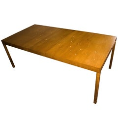 """T.H. Robsjohn-Gibbings """"Constellation"""" Extension Table, with Brass Stars, 1950s"""