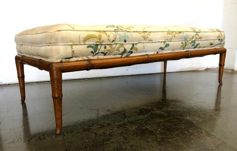 T.H. Robsjohn-Gibbings Custom Walnut Bench for the Kandell Residence For Sale 4