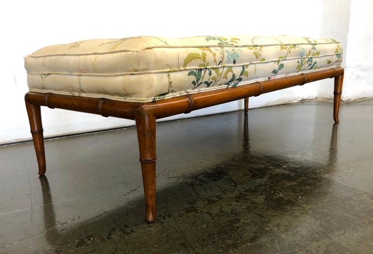 T.H. Robsjohn-Gibbings Custom Walnut Bench for the Kandell Residence For Sale 5