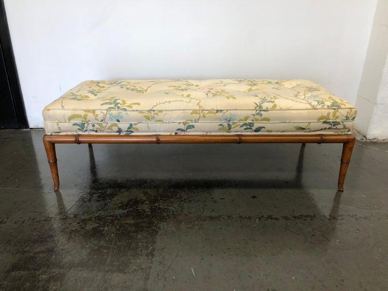 T.H. Robsjohn-Gibbings Custom Walnut Bench for the Kandell Residence For Sale 6