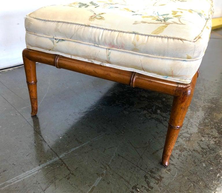 T.H. Robsjohn-Gibbings Custom Walnut Bench for the Kandell Residence For Sale 7
