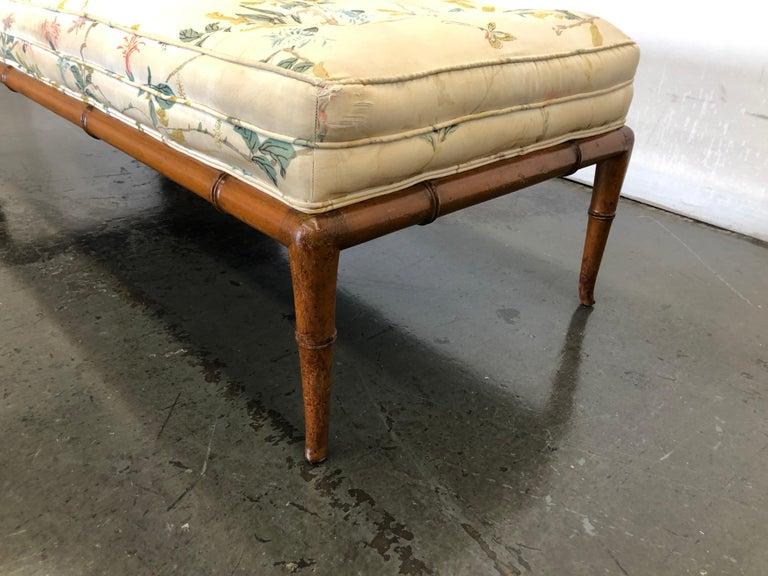 T.H. Robsjohn-Gibbings Custom Walnut Bench for the Kandell Residence For Sale 9